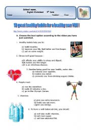 10 HEALTHY HABITS FOR A HEALTHY NEW YOU ! (2 pages)