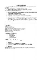 english phonetic transcription exercises pdf