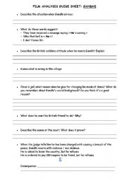 English Worksheet: Gandhi in the train an all the Indians waiting for him on the plateform