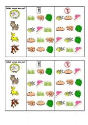 English Worksheet: Guessing game, pair work on likes/dislikes food