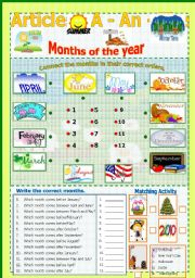 English Worksheet: Months of the year