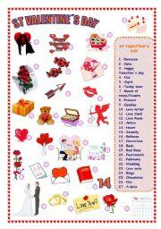 st valentine s day esl worksheet by refuerzo. Black Bedroom Furniture Sets. Home Design Ideas