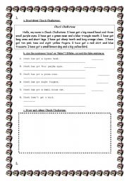 English Worksheets: Easy Reading Texts about Body Parts