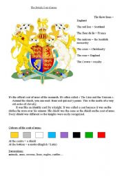 The coat of arms - ESL worksheet by misslamour