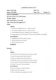 if clause type 3 gd lesson plan efl esl worksheet by gecekusu3006 rh eslprintables com guided discovery lesson plan social studies guided discovery lesson plans for kindergarten