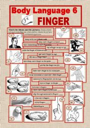 English Worksheets: Body Language 6