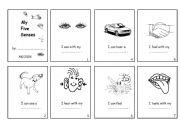 English Worksheets: My 5 Senses   - Minibook