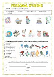 Worksheet Personal Hygiene Worksheets english teaching worksheets hygiene hygiene