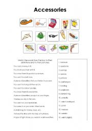 English Worksheets: accessories