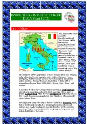 Inside the continent Europe - Italy (Part 1 of 2) (6 pages)