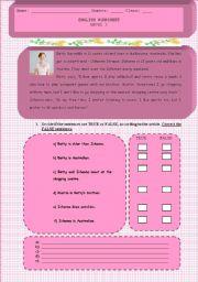 English Worksheets: Describing activities