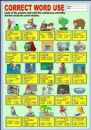 English Worksheets: Correct Word Use