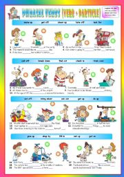 Phrasal Verbs (Fifth series). Exercises (Part 2/3). Key included!!! (The preview looks a bit distorted, but the document is perfectly fine after downloading it)