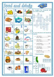 English Worksheet: Food and Drinks(2)