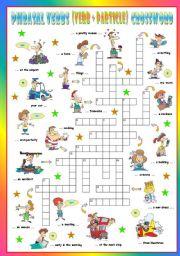 English Worksheet: Phrasal Verbs (Fifth series). Crossword (Part 3/3)