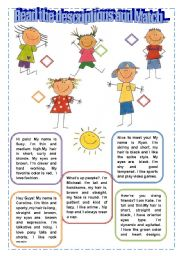 english teaching worksheets physical description