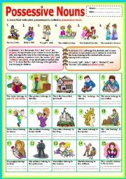 ... here grammar worksheets nouns possessive nouns possessive nouns