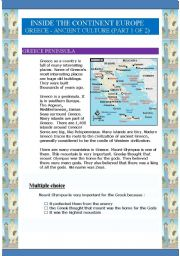 English Worksheet: Inside the continent Europe - Greece (9 pages) (Part 1 of 2)