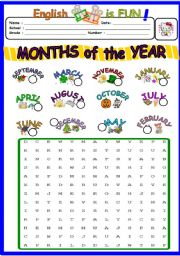 Printables Months Of The Year Worksheets english teaching worksheets months of the year puzzle