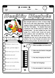 RC Series Level 2_01 Healthy Lifestyle 3 Pages  6 exercises (Fully Editable + Answer Key)