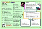 English Worksheet: Song by Avril Lavigne