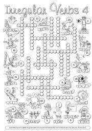 Irregular Verbs Crossword 4