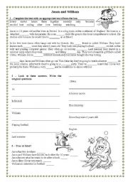 English Worksheets: Reading comprehension for elementary students