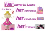 English Worksheet: CLASSROOM POSTER HER