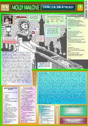 English Worksheets: MOLLY MALONE - THE DUBLINERS - PART 01