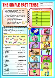 English Worksheet: The Simple Past Tense