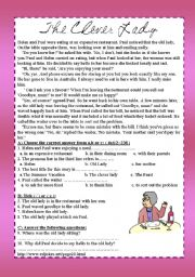 English Worksheets: The old lady
