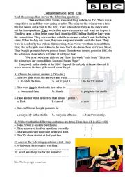 English Worksheets: The competition