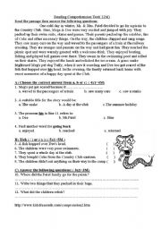 English Worksheets: A great Day