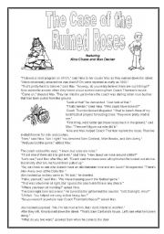 The Case Of The Ruined Roses Mystery To Solve Esl Worksheet By
