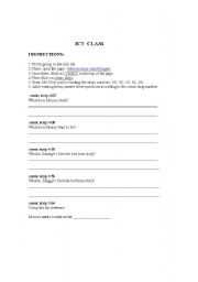 English Worksheets:  ICT CLASS