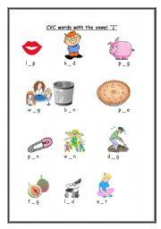 English Worksheets Cvc Words I Sounds Part 2