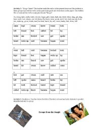 English Worksheets: Escape from the Jungle