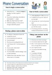 English Worksheet: Phone conversation vocabulary
