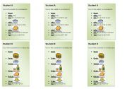 English Worksheet: ORdering food - Editable