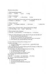 English Worksheets: Movie The Mouse Hunt worksheet