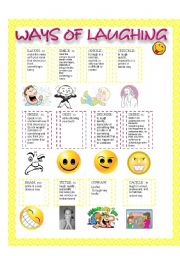 English worksheet: WAYS OF LAUGHING