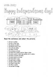 English Worksheet: 9th July  Independence day ( Independence day in Argentina)