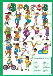English Worksheets: SPORTS - MATCHING