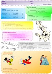 English Worksheets: Revision for the first lessons.
