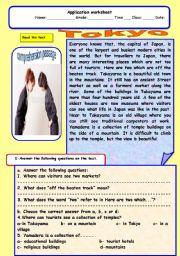 English Worksheets: Tokyo