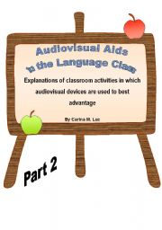 English Worksheets: Audiovisual Aids in the Language Class - Part 2