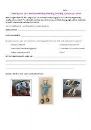 English Worksheets: Walle Film Creative Task