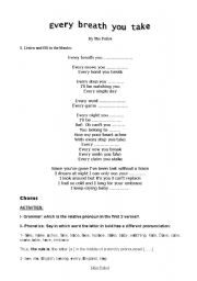 English Worksheets: every breath you take