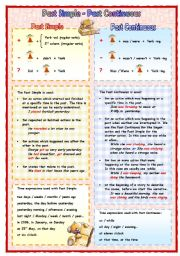 English Worksheets: Past simple - Past continuous
