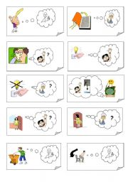 English Worksheet: CLASSROOM ENGLISH card game (22 cards on this worksheet) - part I of II